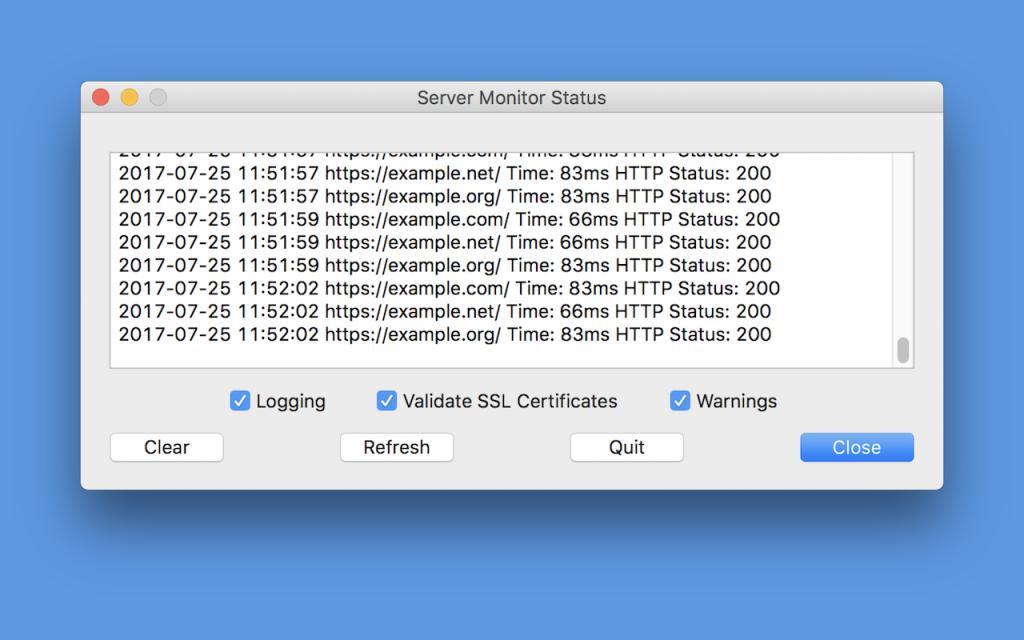 Status Window - Mac Version